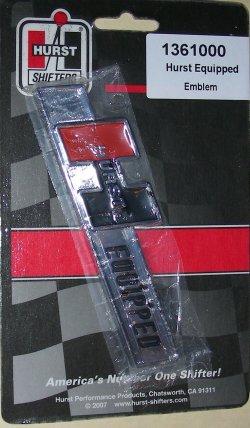 Hurst 1361000 Shifter Accessory Hurst Equipped-Emblem